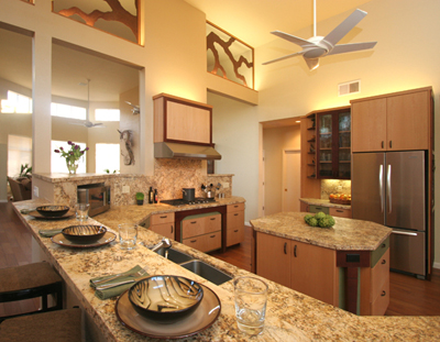 Remodeled Kitchen by Bedrock Construction